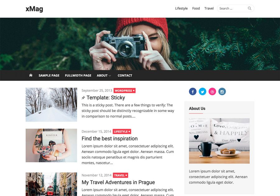 Tema de WordPress para revistas