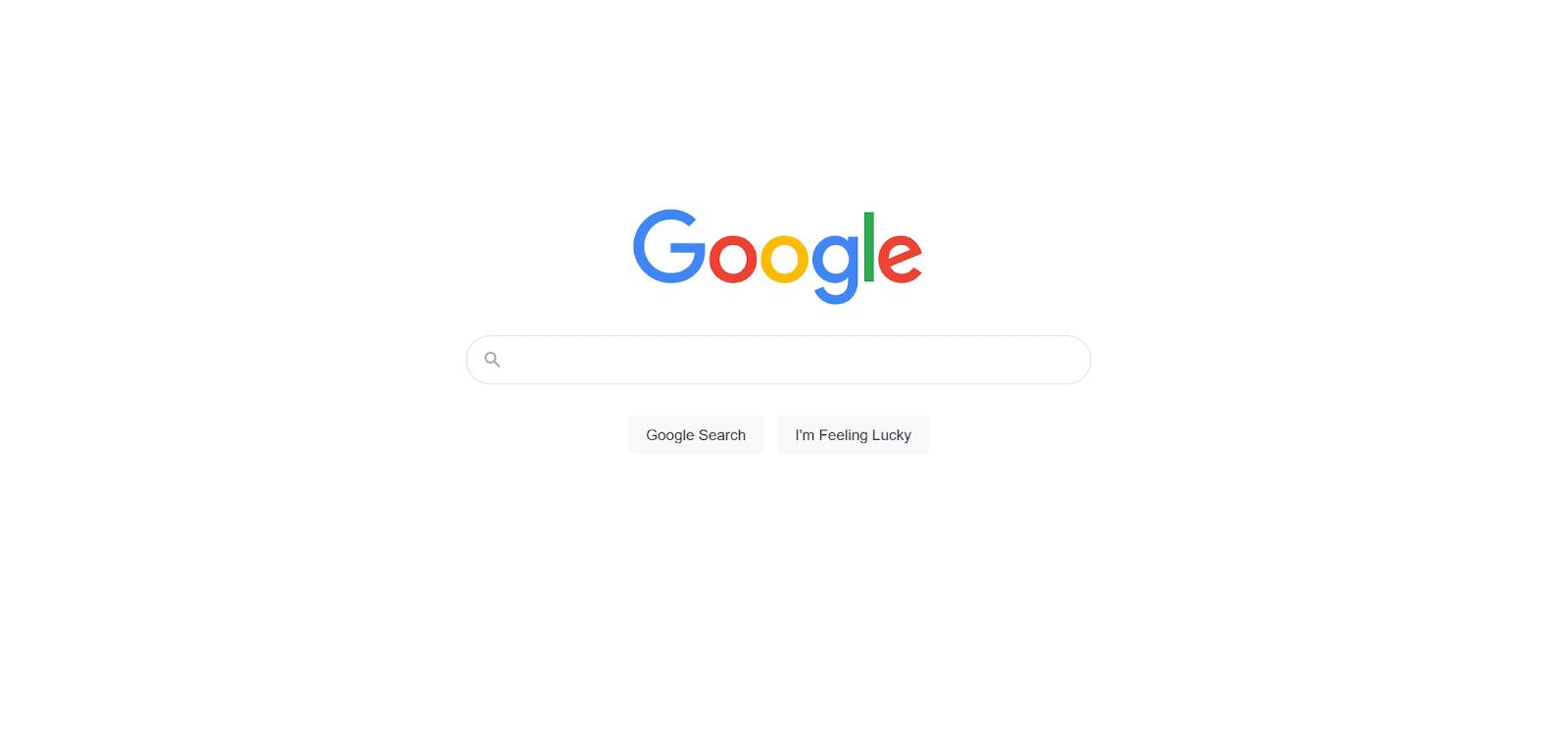Página principal de Google.