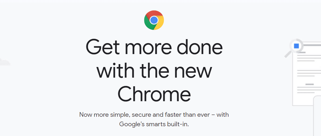 Inicio de Google Chrome.