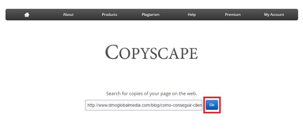 Contenido duplicado externo de Copyscape