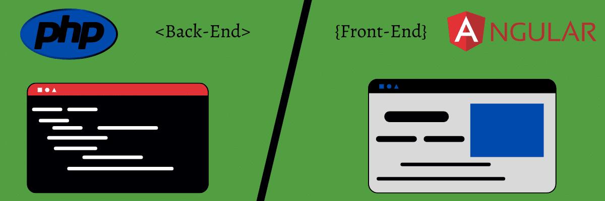 Compare el anverso y el reverso de Angular y PHP