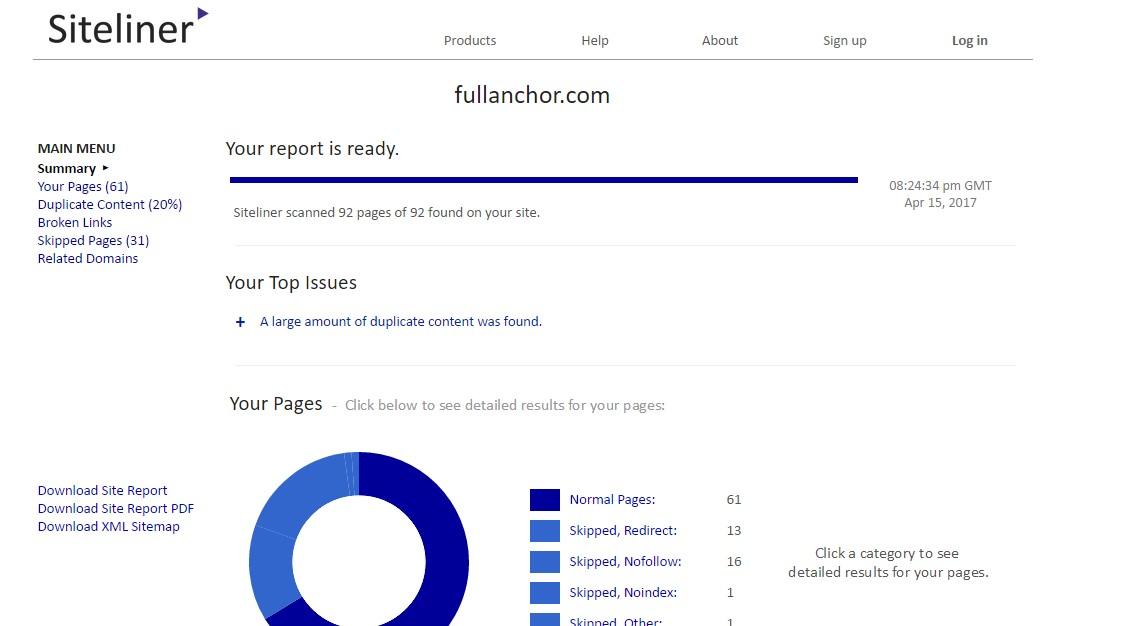 Herramienta para verificar el vinculador de sitios de contenido duplicado