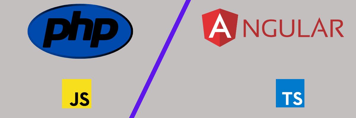 Comparación de PHP y lenguajes angulares y marcos web