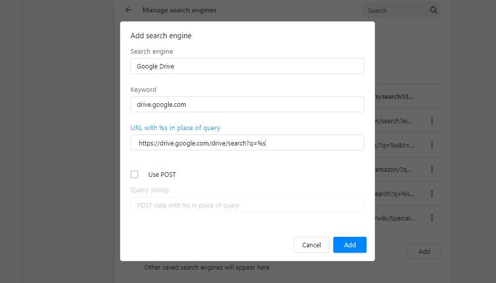 Agrega opciones de motor de búsqueda a Opera.