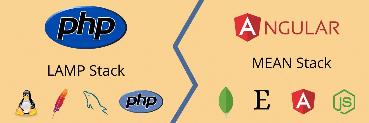 Compare las pilas de tecnología Angular y PHP