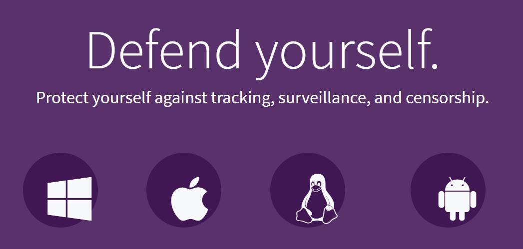 Página de inicio del proyecto Tor.