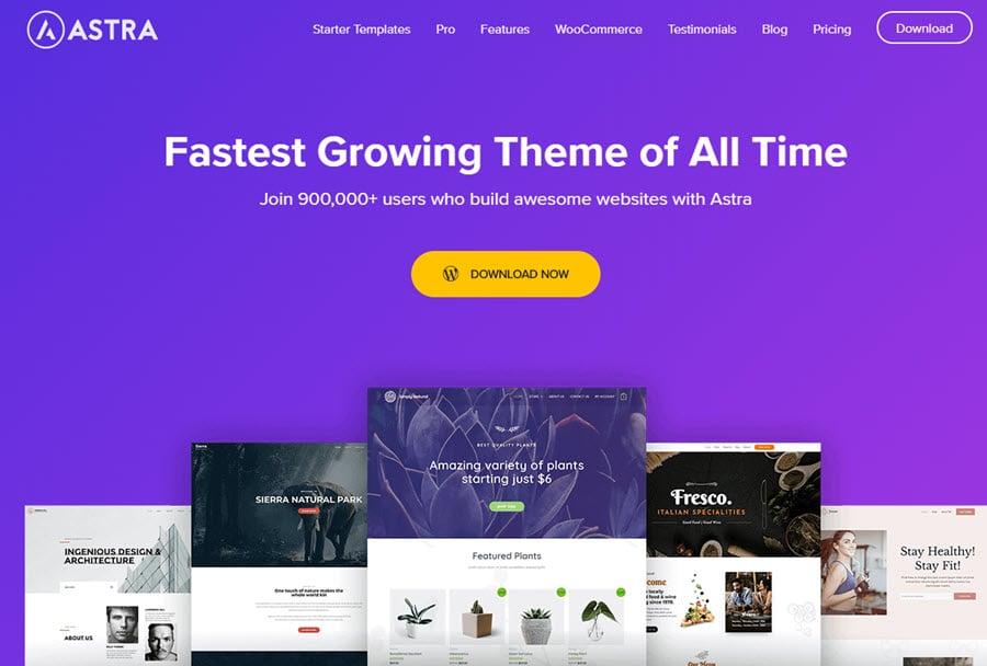 Astra WP - el tema de WordPress más rápido