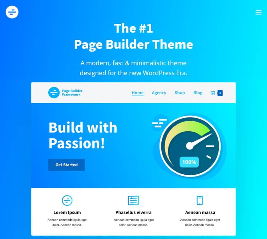 Page Builder: el tema de WordPress más rápido