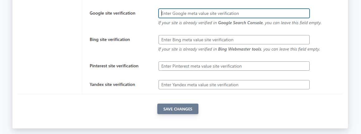 La configuración avanzada de SEOPress simplifica el proceso de revisión del sitio de Google.