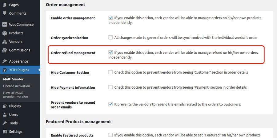 YITH WooCommerce gestión de crédito de múltiples proveedores.