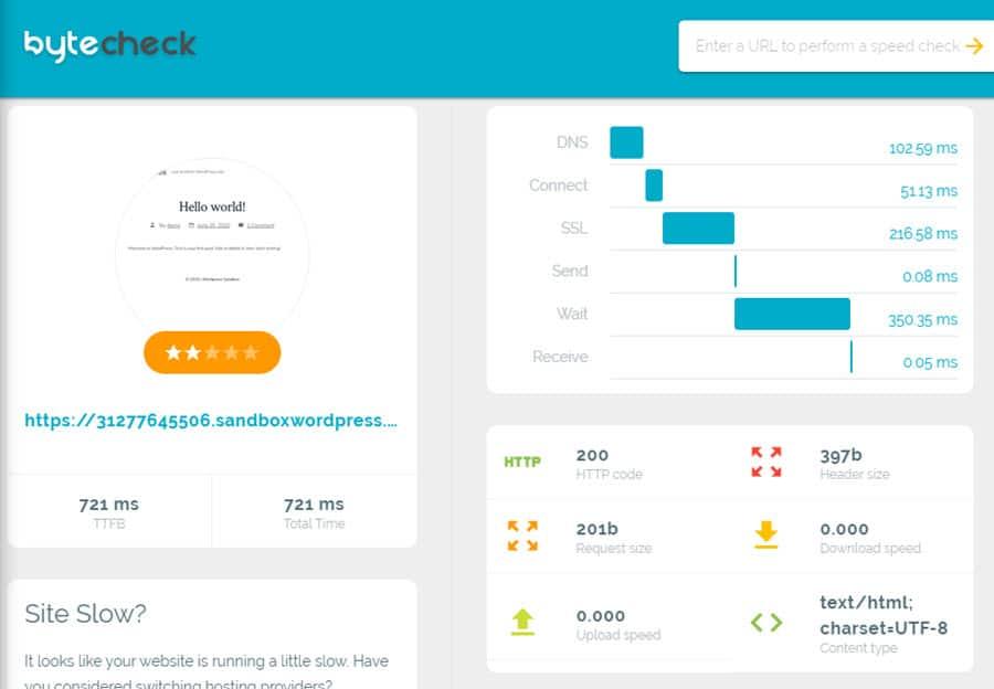 Byte Check: el tema de WordPress más rápido