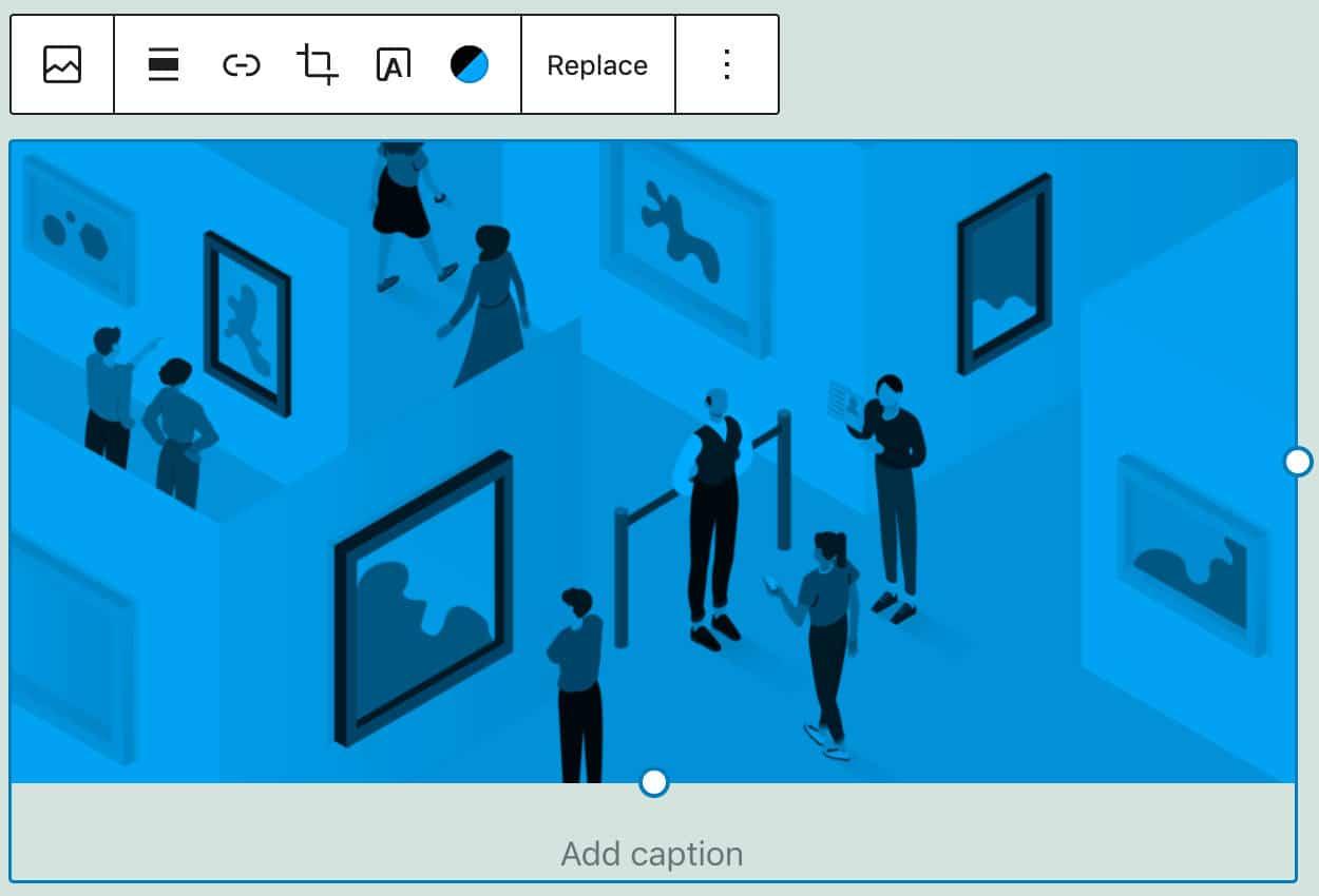 La imagen muestra un filtro de color de dos colores.