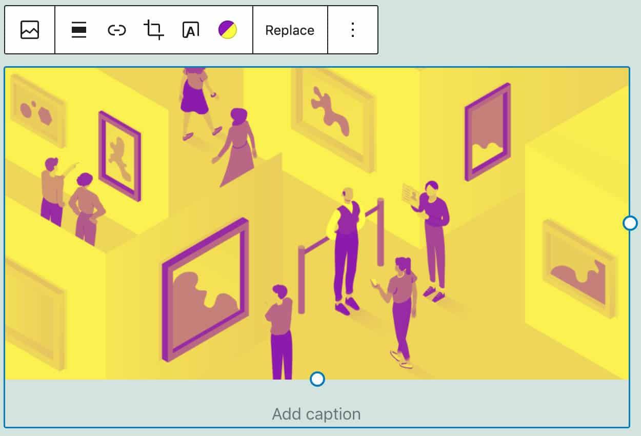 Varios filtros de color de dos colores utilizados en la imagen.