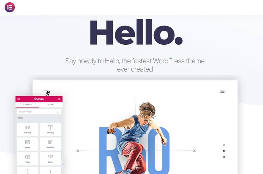Hola Elementor: el tema de WordPress más rápido