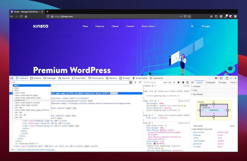 Encuentra el artículo en Firefox desde la ventana de revisión.