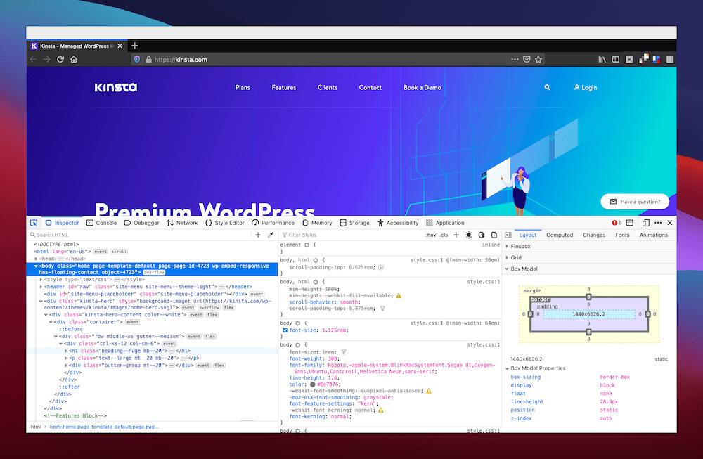 Una vista triple de Firefox.