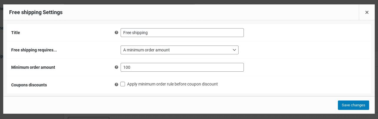 Opciones de envío gratis