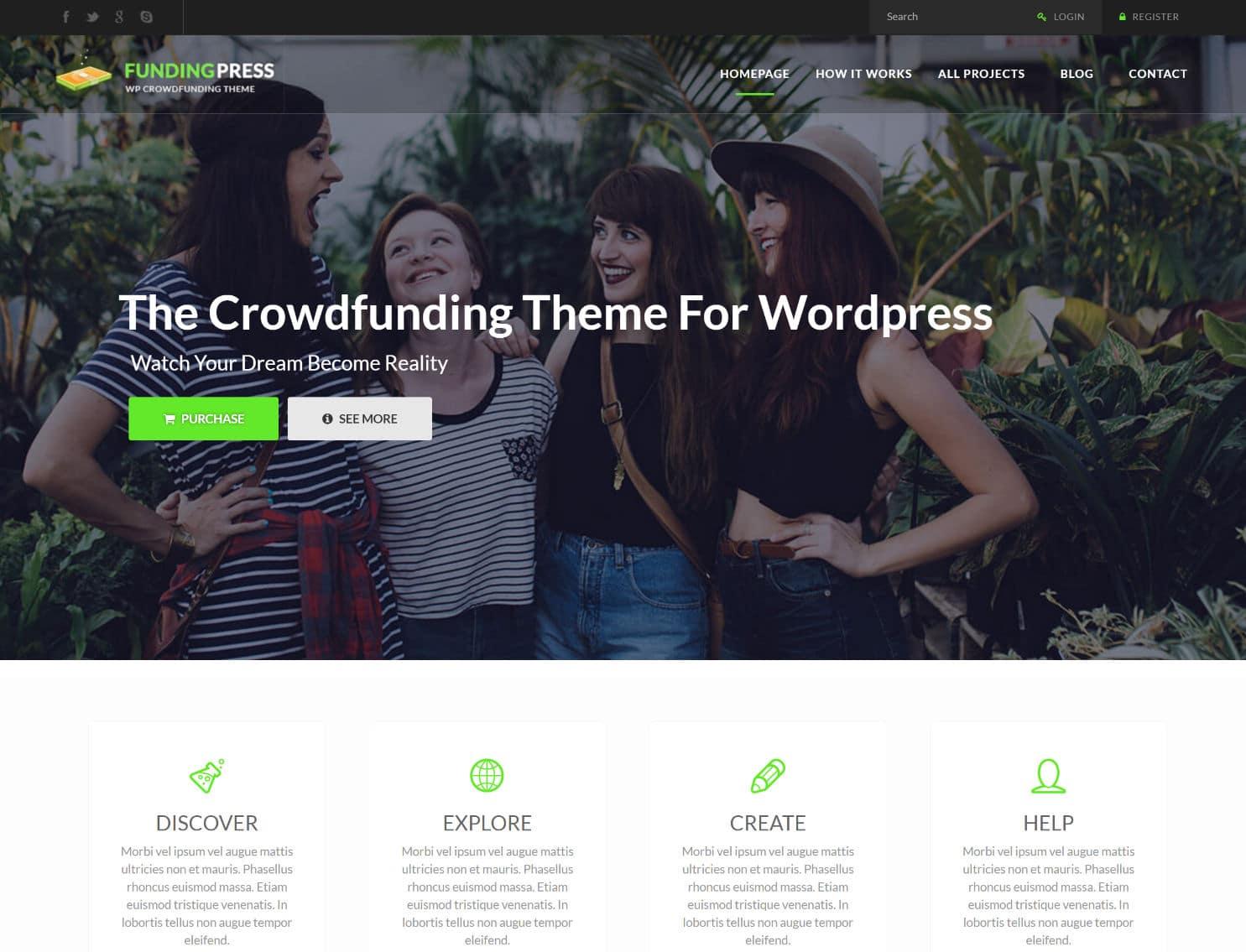 Tema de WordPress de prensa financiera