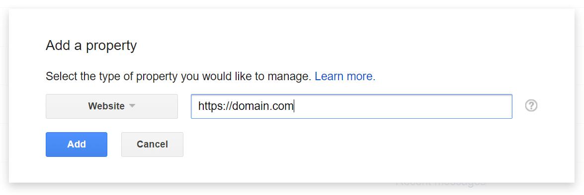 https consola de búsqueda de google