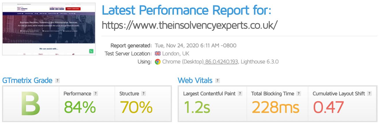 Sitio web experto en quiebras