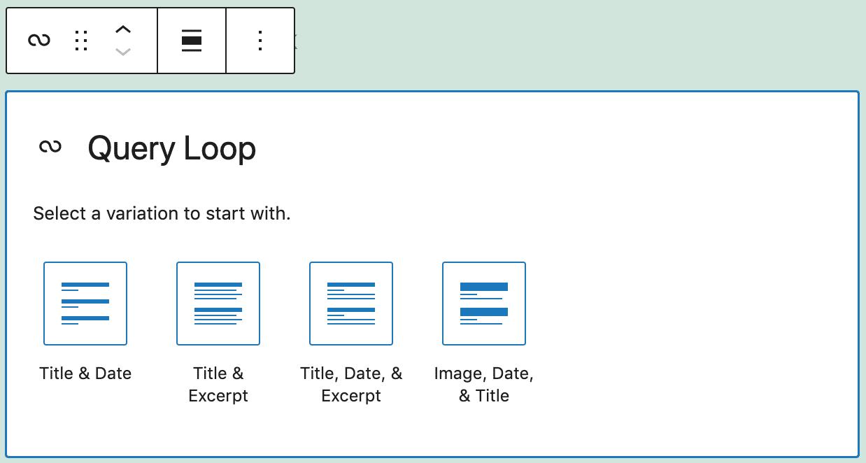 Variantes de bloque de bucle de consulta.