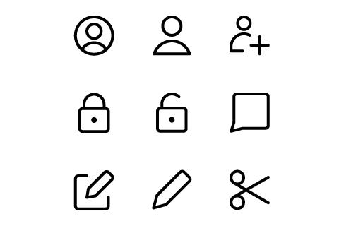 Simplificar iconos gratuitos