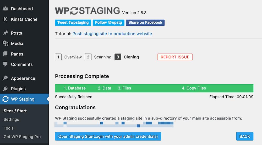 Visualización para completar la fase WP.