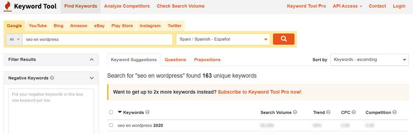 Keyword-Tool.io