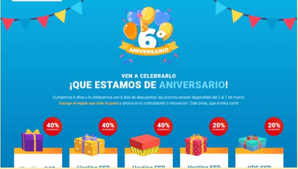 Aniversario de la página de inicio de Raiola