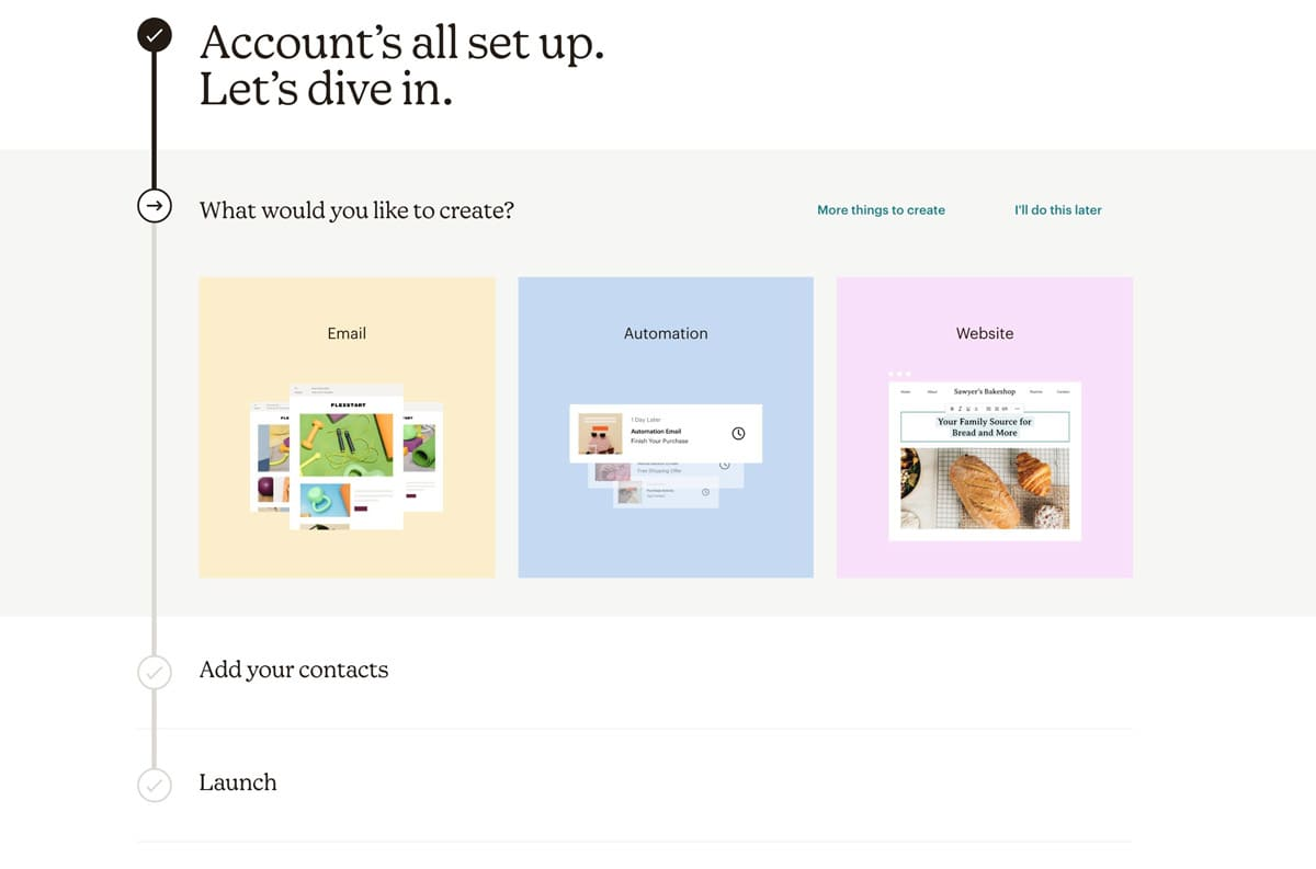 Aceptar registro mailchimp