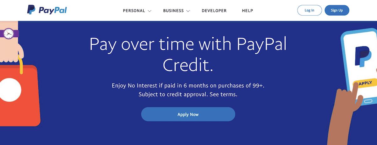 Sitio de Paypal