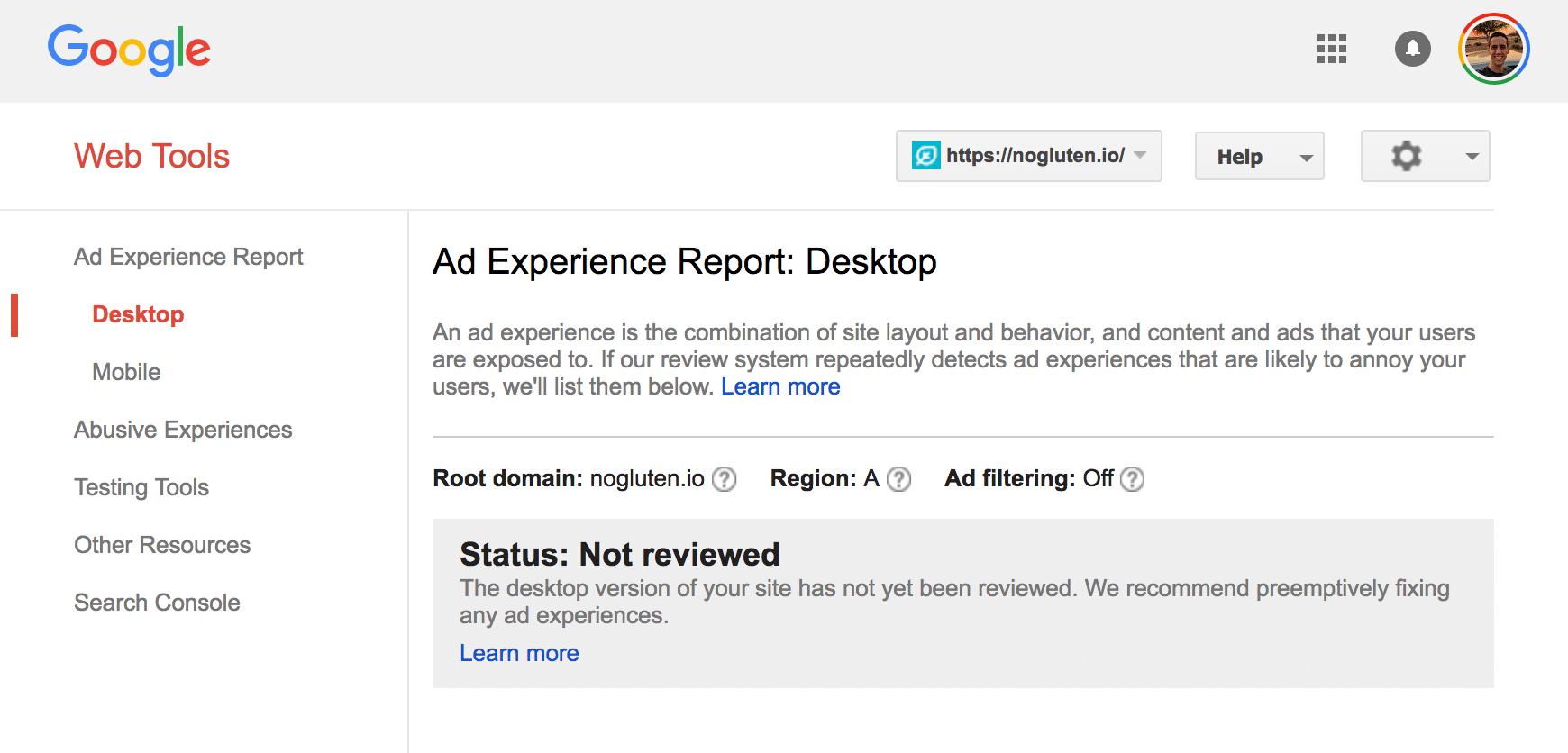 Informe de experiencia publicitaria sin auditar