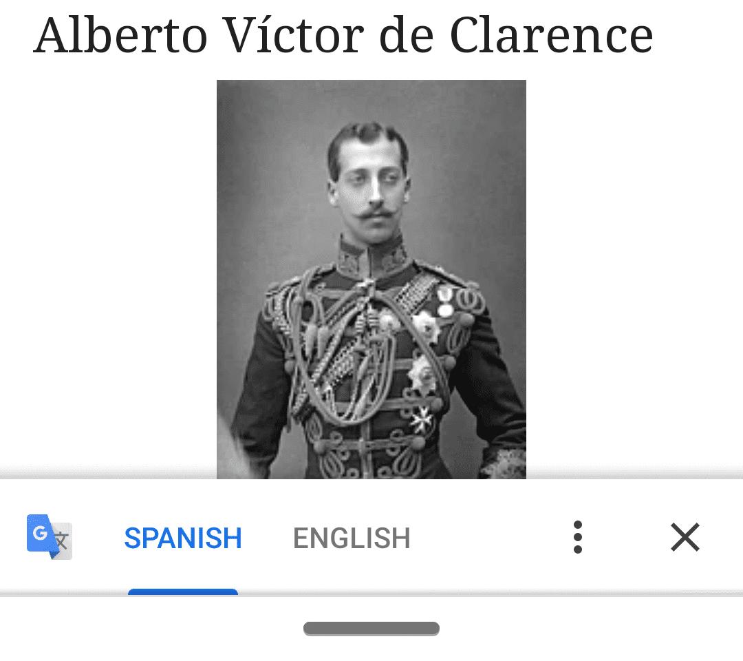 Ventana emergente de traducción de Android