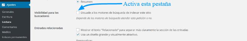 Cómo desactivar el índice del blog