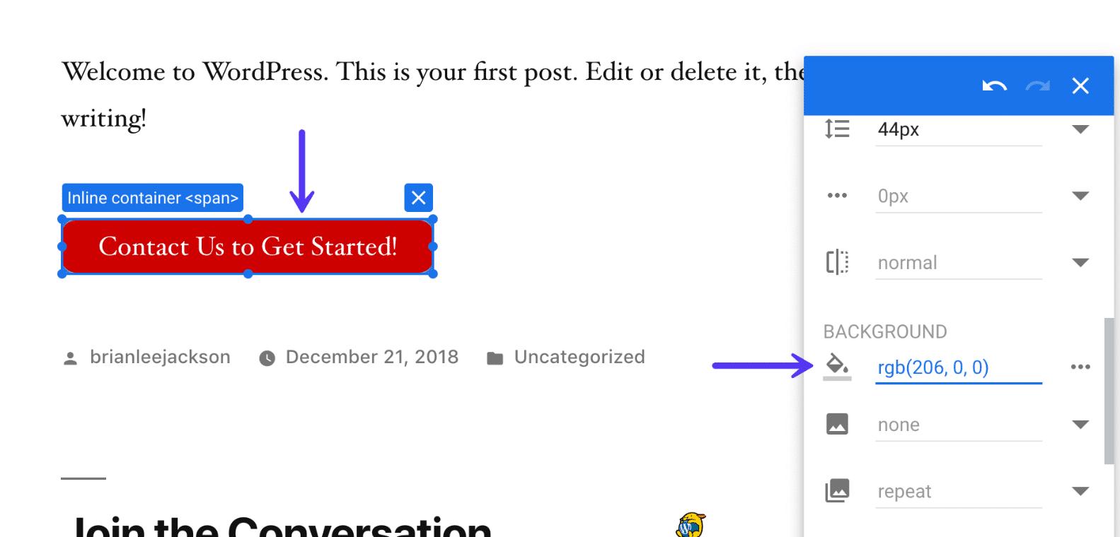 Cambiar el color del botón en Google Optimizer