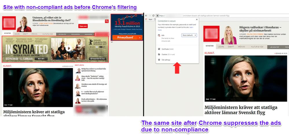 Chrome está bloqueando anuncios