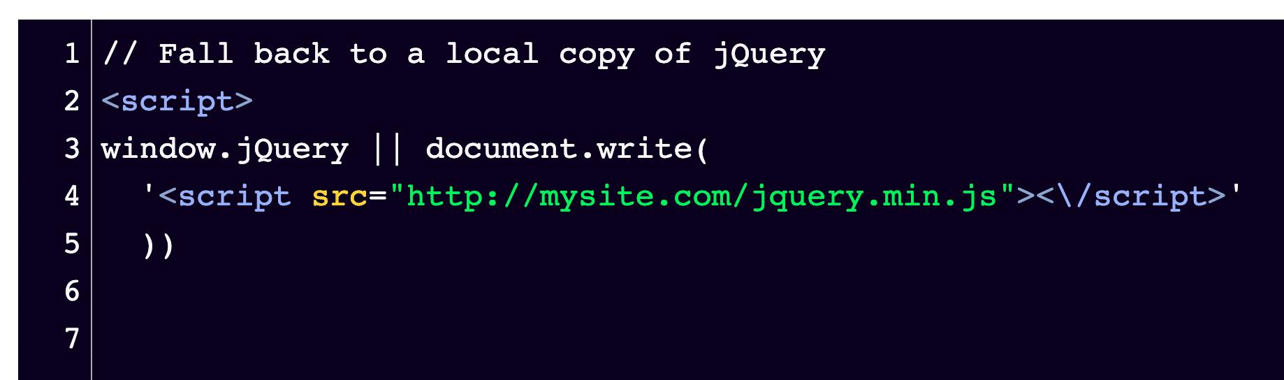 Si usa comentarios al principio, el fragmento de código debería verse así.