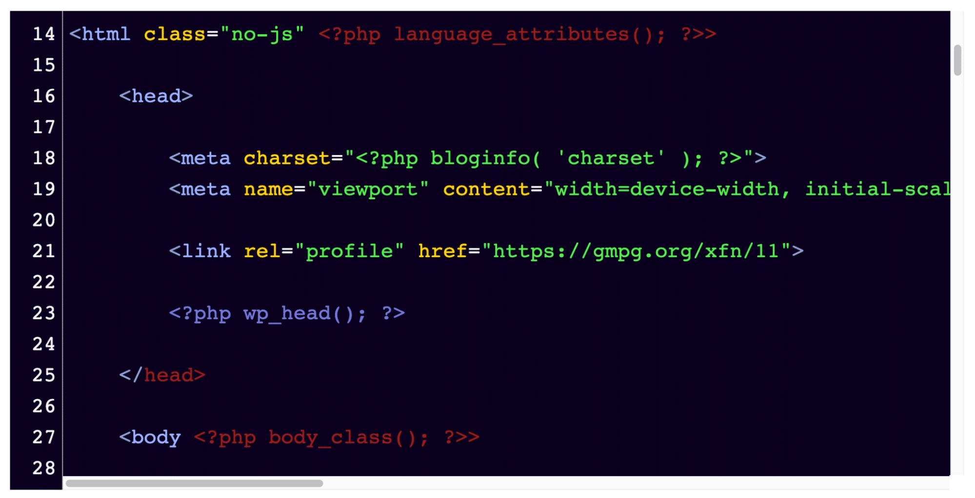 Asegúrese de que este sea un fragmento de código en el archivo wp-config.php