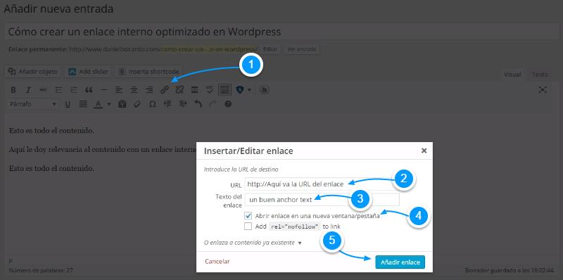 Cómo crear enlaces en WordPress