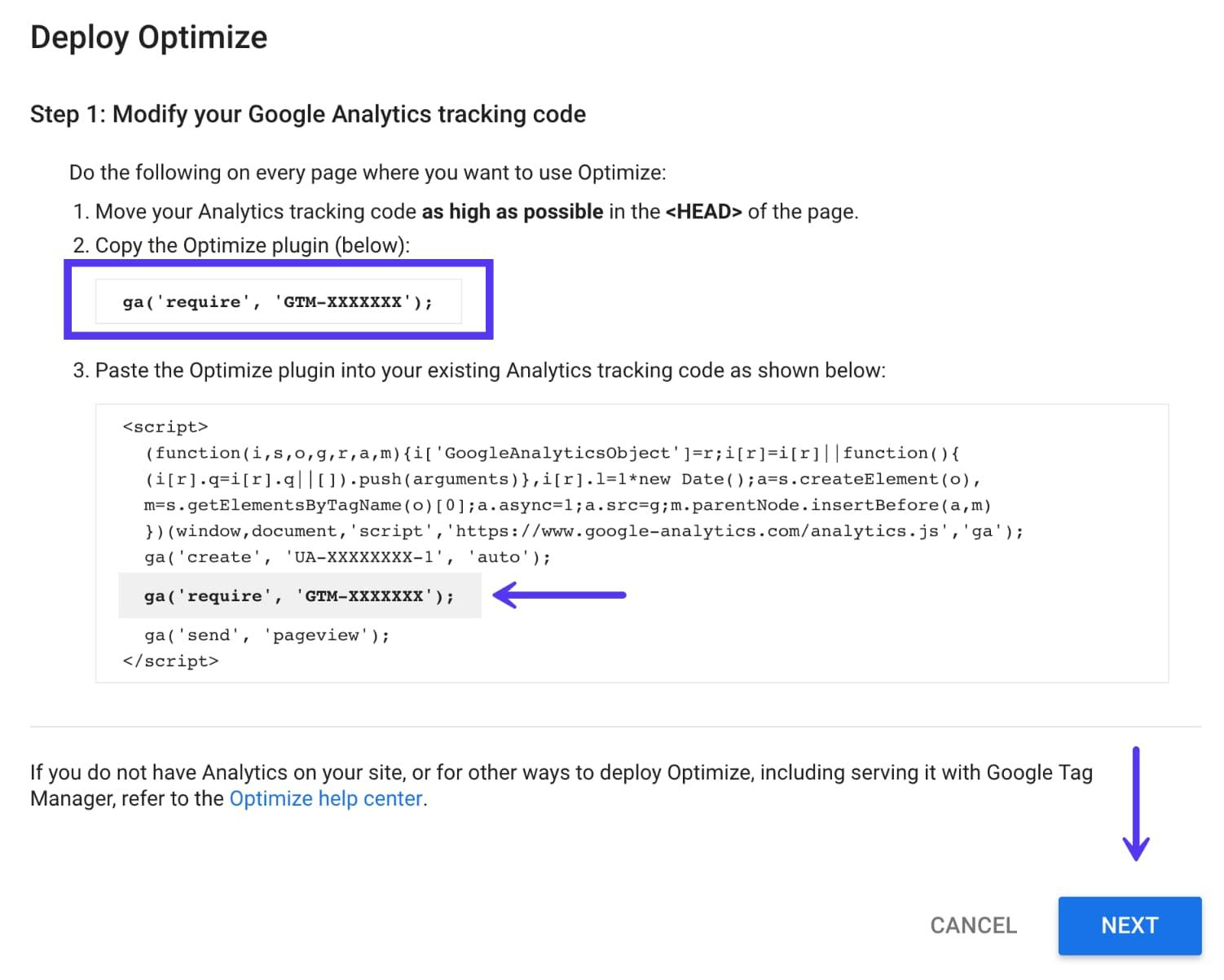 Habilitar código optimizado
