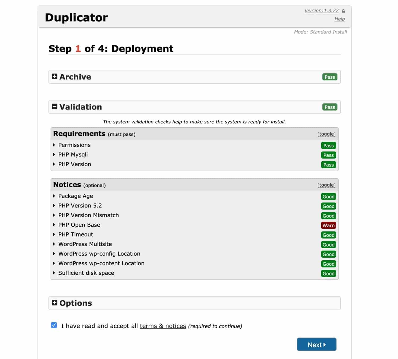 Migración del sitio de WordPress: proceso de importación de copiadoras