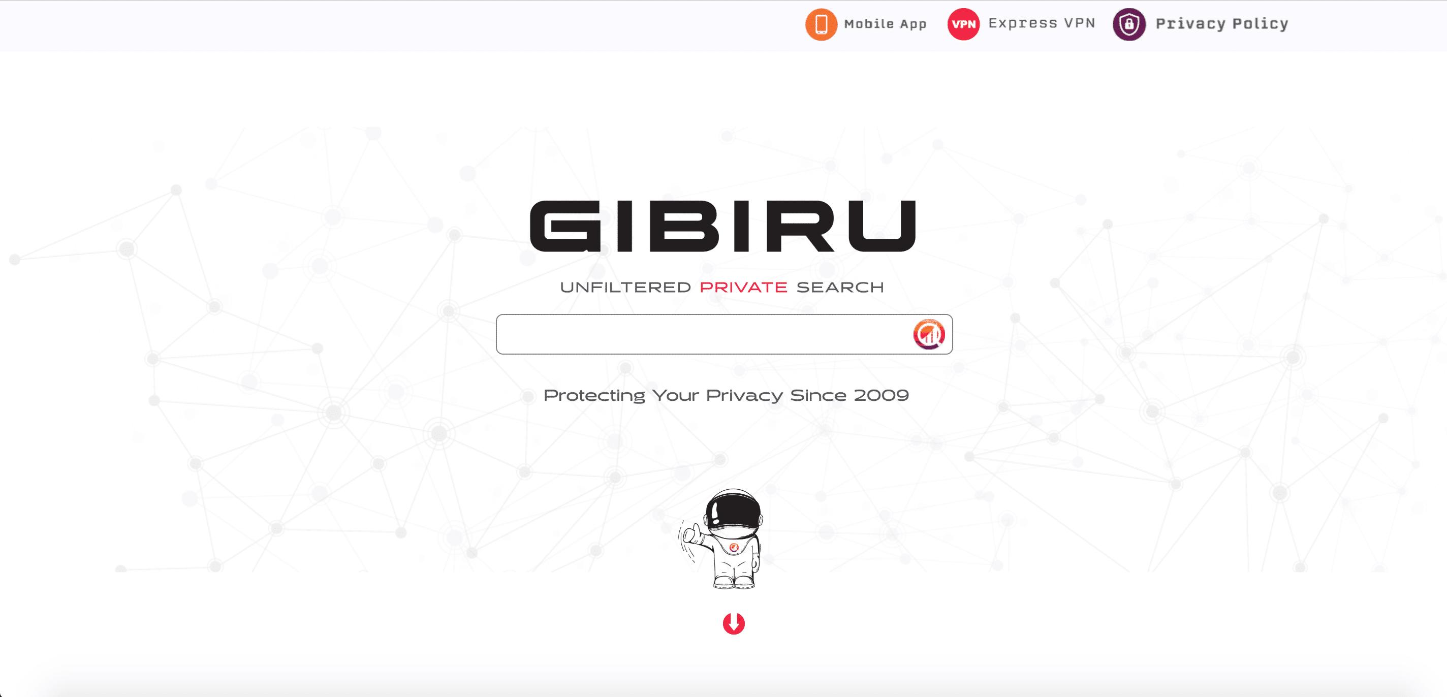 Motor de búsqueda Gibiru