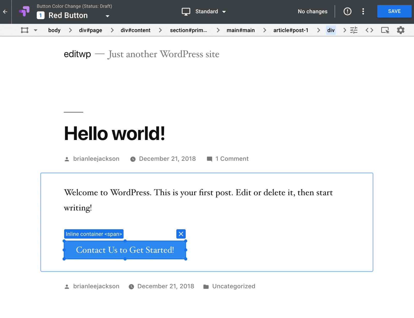 Editor optimizado por Google