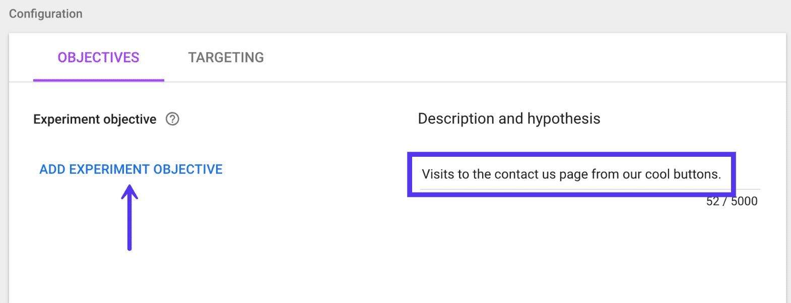 Objetivo de optimización de Google para la fecha de finalización de la herramienta