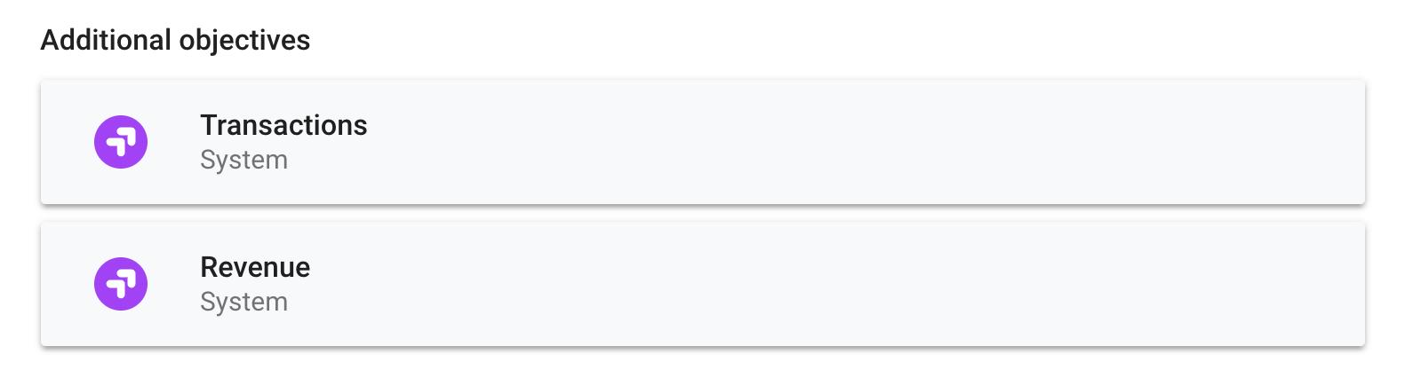Objetivo de Google Optimize: comercio electrónico
