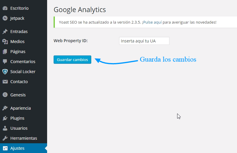 Cómo insertar el código de seguimiento de Google Analytics en WordPress