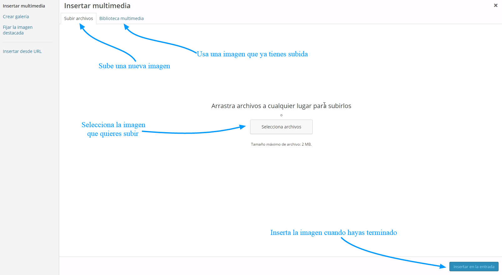 Cómo subir imágenes a WordPress