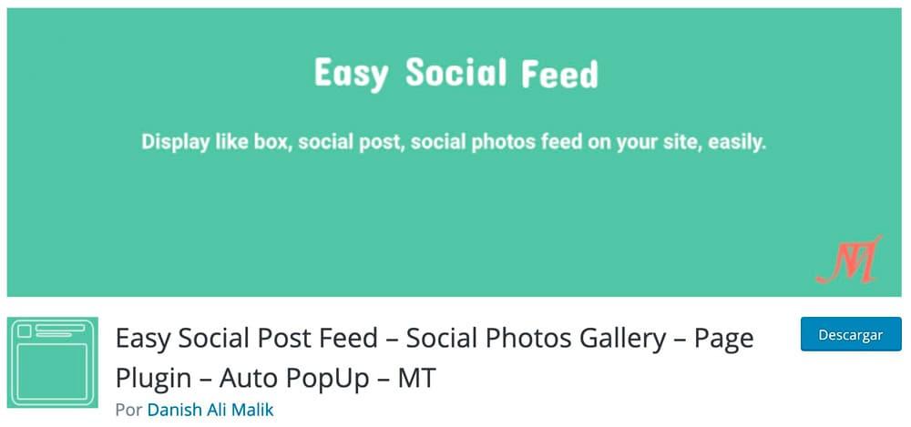Feed simple de redes sociales