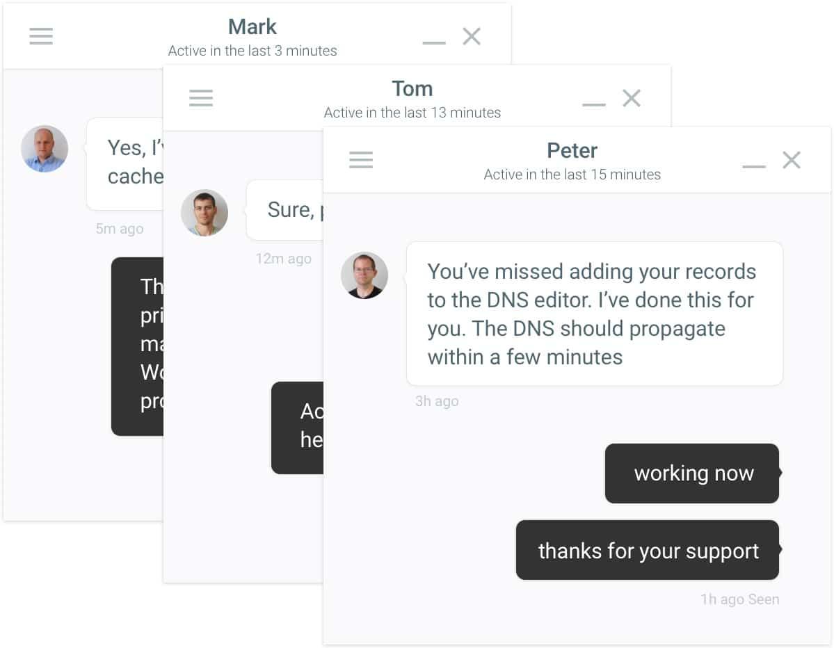 Soporte de chat administrado de WordPress administrado