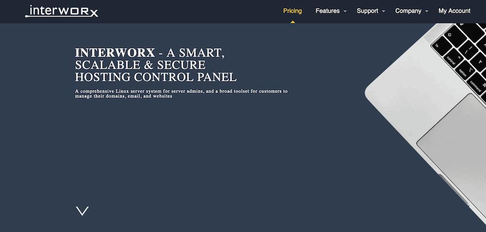 Sitio web de InterWorx.